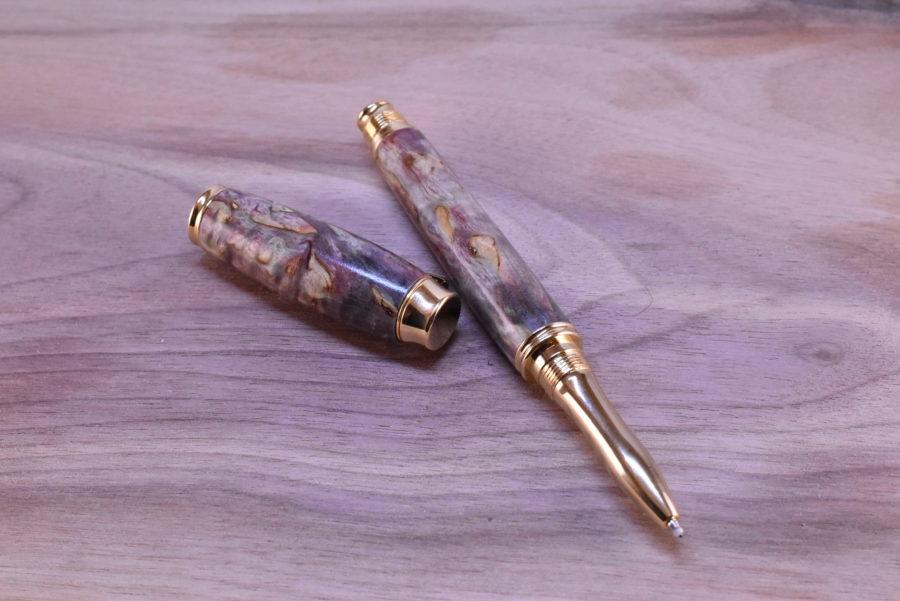 Dřevěné pero kuličkové stabilizovana briza